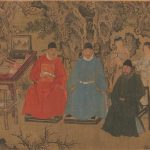 Elegant Gathering in the Apricot Garden, after Xie Huan (c.1370-c.1450), painted about 1437, hand scroll ink and colours on silk © The Metropolitan Museum of Art