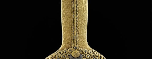 Detail of handle of Yongle sword, iron, gold, silver, wood and leather, Yongle, circa 1420 © Royal Armouries