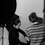 Shirin Neshat and an assistant. Photo courtesy David Jimenez