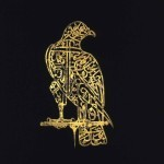 Calligraphic Alam in the shape of a falcon, Golconda, 17th century, perforated gilt copper, 34.9 x 20.3 cm, Victoria & Albert Museum, London © Victoria & Albert Museum