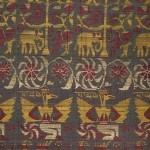Detail of the Vrindavani Vastra textile, Assam, India, circa 1680. Given by Perceval Landon in 1905 © The Trustees of the British Museum