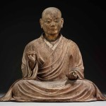 Koshun (active circa 1315–1328, possibly through 1359). The Shinto deity Hachiman in the guise of a Buddhist monk, Kamakura period, dated 1328, polychromed Japanese cypress (hinoki) with inlaid crystal eyes, 81.3 x 93.3 x 61 cm, Museum of Fine Arts, Boston; Maria Antoinette Evans Fund and Contributions. Photo © 2016 Museum of Fine Arts, Boston