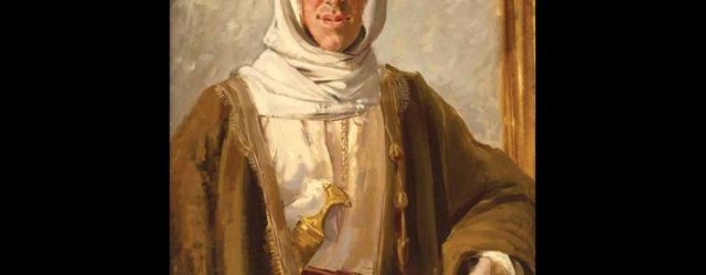 Colonel TE Lawrence (1919) by Augustus John OM, oil paint on canvas, 800 x 597 mm, Tate