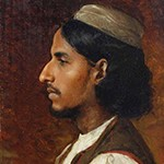Muhammad Hussain (1886) by Rudolf Swoboda, oil paint on panel, 30 x 19.7 cm, Royal Collection/HM Queen Elizabeth II