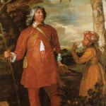 William Fielding, 1st Earl of Denbigh by Anthony Van Dyck (1635-36), dressed in appropriate attire after visiting Mughal India and Persia, oil paint on canvas, 24.7 x 148.5 cm, National Gallery, London