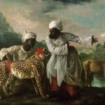A Cheetah and Stag with Two Indian Attendants (1765) by George Stubbs, oil paint on canvas 1827 x 2753 mm, Manchester Art Gallery