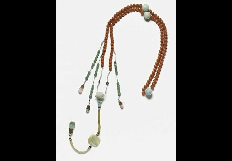 Court beads, carnelian, rose quartz, tourmaline and Burmese jade, 19th century, China. Gift of Colonel & Mrs John Young. All images Courtesy of Cantor Arts Center Collection