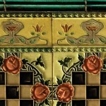 City of mixed provenance: English border tiles cap squares fabricated by MS Tile Works of Japan