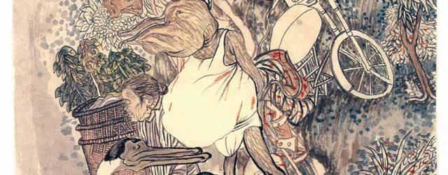 Man with a Large Mouth (2009) by Yun-Fei Ji, ink on xuan paper, 39.4 x 35.9 cm The René Balcer and Carolyn Hsu-Balcer Collection © Yun-Fei Ji
