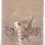 Seven Demons (2009) by Yun-Fei Ji,ink on xuan paper, 48.1 x 35.2 cm. Collection of Mr & Mrs Jerome L Stern © Yun-Fei Ji