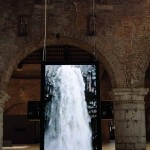 Octfalls (2011), installation, Audiovisual installation, 8 HD displays, 8ch multi sound, duration 8 minutes. Installation view 'One of a thousand ways to defeat entropy' at the 54th Venice Biennale, Arsenale Novissimo, Venice