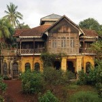 hariffa Bibi's semi-pukka mansion features extensive use of high ceilings, stained glass and Marseille roof tiles, circa 1890