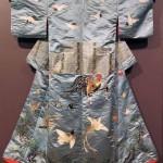 Winter kimono, silk satin and silk embroidery, 1890, Japan. Gift of Nathaniel J Kendall