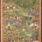 One of the 10 thangkas that illustrate the life of Tonpa Shenrab, Eastern Tibet, 19th century, tempera on canvas. Gift of Mme D'Ollone, in memory of General Henri d'Ollone, 1947 © DR – MNAAG