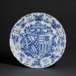 Plate with the arms of García Hurtado de Mendoza y Manrique and Teresa de Castro y de la Cueva, Thomas Lurie Collection