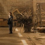 Ai Weiwei in his studio in Beijing, taken in April 2015. Photo © Harry Pearce/Pentagram, 2015