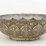 Lobed bowl with lotus petals, birds, animals, and floral scrolls, probably Xi'an, Shaanxi province, China, early or mid-Tang dynasty, late 7th/early 8th century, hammered silver with repoussé, chased and ring punched decoration and mercury gilding