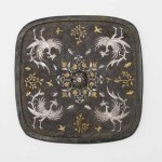 Square mirror with floral medallion, plant sprays, birds, and insects, China, mid-Tang dynasty, 8th century, cast bronze, gold and silver with chased decoration and lacquer