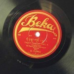 Only existing copy of this Beka 78 rpm. Courtesy Jaap Kunst Archives, University of Amsterdam