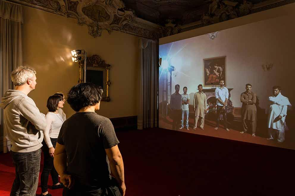 My East is Your West (2015) at the 56th Venice Biennale by Rashid Rana. Photo by Mark Blower