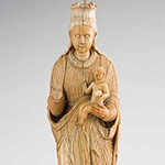 Virgin and Child, Ceylon (Sri Lanka), mid-16th century ivory, Asian Civilisations Museum