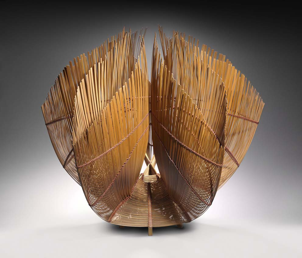 Fire (2011) by Yamaguchi Ryuun (b. 1940), Japanese timber bamboo (madake). All images Stanley and Mary Ann Snider Collection. Reproduced with permission. Photographs © Museum of Fine Arts, Boston