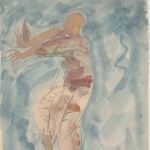 Cambodian Dancer in Profile (1906/07) by Auguste Rodin (1840-1917), pencil, watercolour and gouache on paper, 30 x 19.7 cm Musée Rodin, Paris