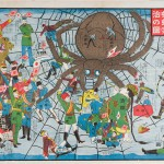 The Humour of Diplomacy and Extermination of the Russian Spider (1904), published by Enomoto Matsunosuke (b 1865, Japan), Meiji period, folded colour lithograph, Saint Louis Art Museum. Gift of Mr and Mrs Charles A Lowenhaupt