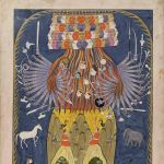Vishvarupa in his cosmic form, anonymous, India, Kashmir, 1875-1900, colours on paper, 27 x 16 cm. Museum Rietberg Zürich, Gift of Alice Boner © Photo: Rainer Wolfsberger