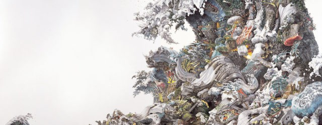 Foretoken (2008) by Manabu Ikeda (b. 1973), pen and acrylic in, 72 x 132 inches. Private Collection, Tokyo. Courtesy of Mizuma Art Gallery, Tokyo