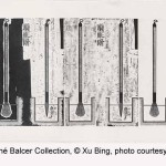 Softening the Brush (1996), handscroll, woodblock print, The Carolyn Hsu and René Balcer Collection © Xu Bing, photo courtesy Xu Bing Studio