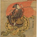 Youth on a Long-Tailed Turtle as Urashima Taro (1767) by Suzuki Harunobu (1725-1770), Sir Edmund Walker Collection