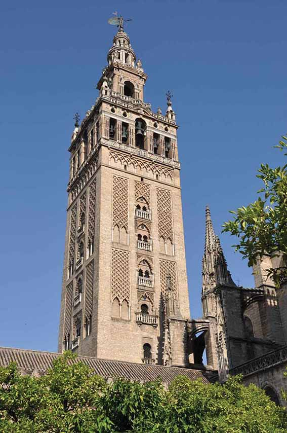 The Giralda tower the only surviving building from the original grand  mosque now part  MOORISH. Classic Tiling Seville Grove Review   penncoremedia com