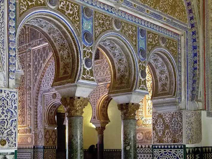Mujedar palace Alcazar Seville  MOORISH SPAIN Asian Art Newspaper. Classic Tiling Seville Grove Review   penncoremedia com