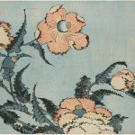 Poppies from Large Flowers, colour woodblock, 1831-1832 © The Trustees of the British Museum. On display to 13 August