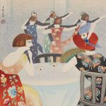 Yamamura Toyonari; published by Yamamura Kōka hanga kankōkai; 'Dancing at the New Carlton in Shanghai', 1924; colour woodblock print with mica; Saint Louis Art Museum, William K. Bixby Trust for Asian Art