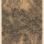 The Mountain of the Five Cataracts by Chen Hongshou, 1624, hanging scroll, ink and colour on silk, 118 x 53 cm, The Cleveland Museum of Art, John L Severance Fund © The Cleveland Museum of Art