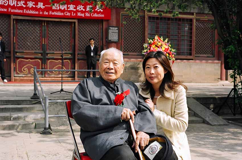 Grace Wu Bruce with Wang Shixiang in China