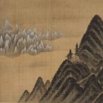 Mt Geumgang Viewed from Danbal Ridge, from Album of Mount Geumgang (1711) by Jeong Seon (Gyeomjae) (1676-1759), one of 14 album leaves, 36.2 x 37.8 cm, leant by National Museum of Korea. All images courtesy of The Metropolitan Museum of Art