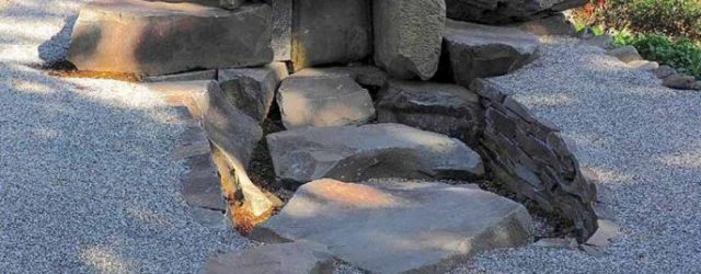 The Rock Garden that makes use of ancient stones found throughout Japan