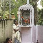 Candles for St Thomas in a shrine near the bay where the saint landed, in Quilon (Kollam), Kerala
