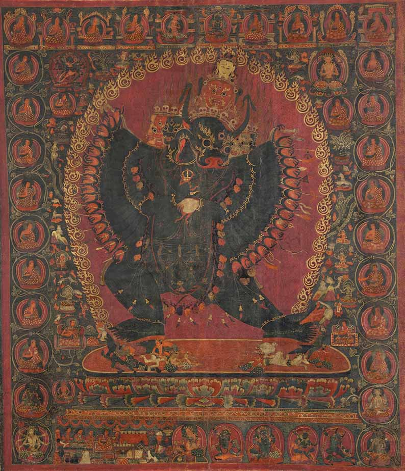 Dorje Jigje, 15th century, Narthang, Tsang (South-Central Tibet), tradition: Sakya, pigments on cloth. All images courtesy of the Museo Nazionale d'Arte Orientale - Giuseppe Tucci, Rome, unless otherwise indicated
