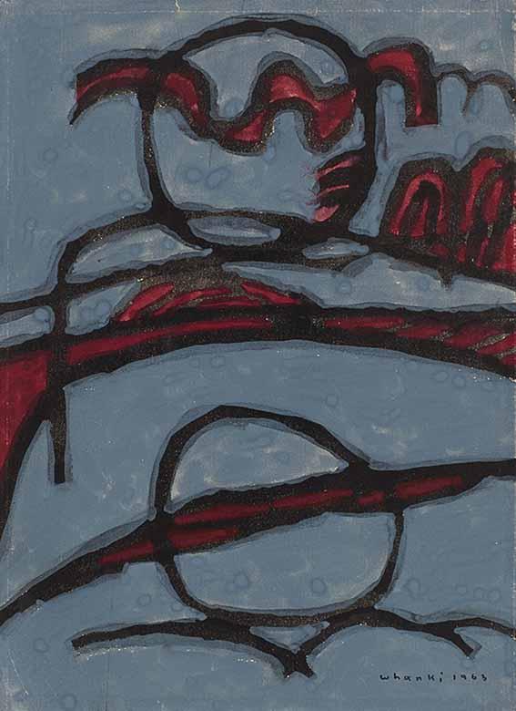 Untitled (1963) by Whanki Kim (1913-1974), gouache on paper, 31.7 x 23.4 cm, HK Art & Antiques