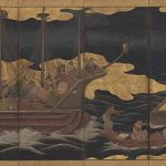 Arrival of the Europeans, Japan, Edo period (1615-1868), early 17th century, pair of folding screens, ink, colour, gold, and gold leaf on paper, Mr and Mrs Robert Feinberg Collection. Photo: Courtesy Harvard Art Museums