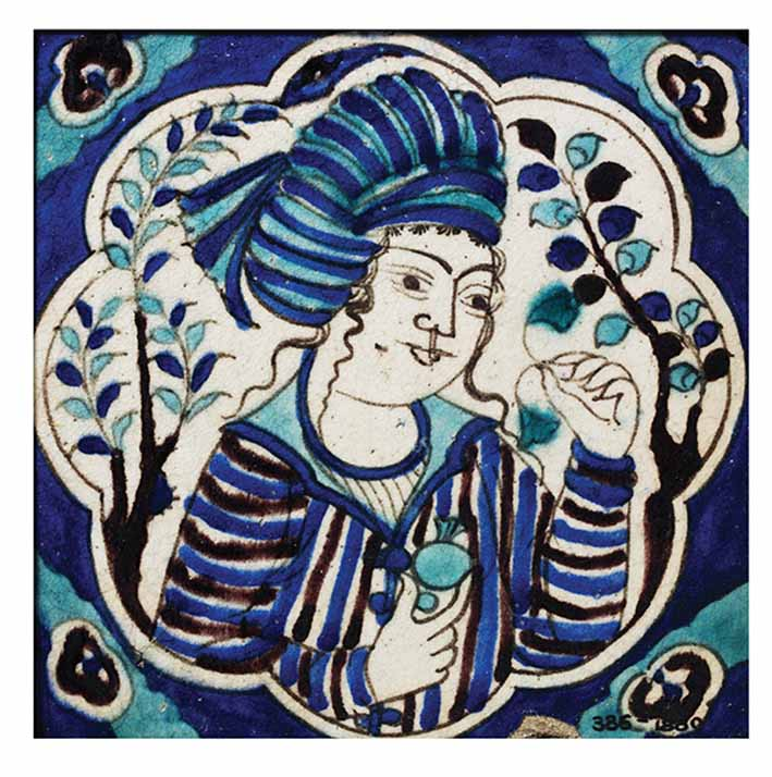 Tile, Iran, 17th century © Victoria and Albert Museum, London