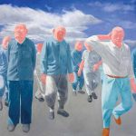 Series 2 N°4 (1992) by Fang Lijun. Private Collection