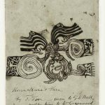 Tooi [Tuai], Drawing of Korokoro's moko (1818), paper, 30 x 50 cm, Sir George Grey Special Collections, Auckland Libraries