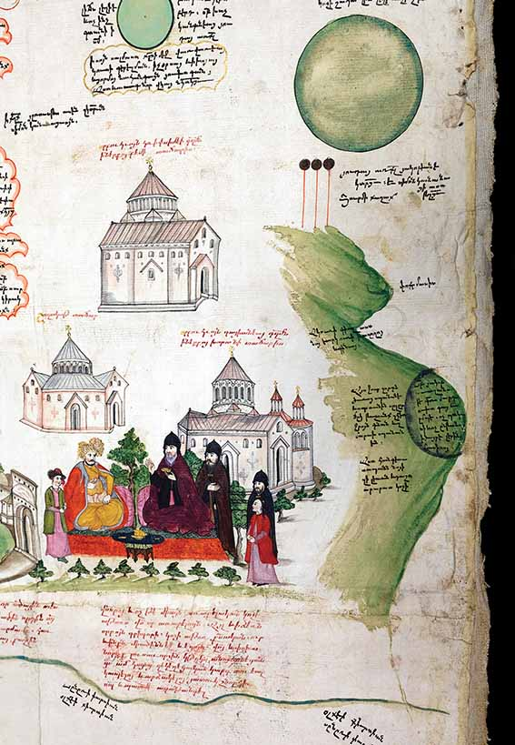 Detail from the Tabula Chorographica Armenica was drawn for Luigi Frederico Marsili, a Bolognese aristocrat and member of the retinue of the Venetian ambassador to the Ottoman Empire
