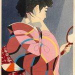 Handmirror (1954) by Ito Shinsui (1898-1972), 50 x 35.5 cm