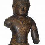MAITREYA, 8th/9th century, Komering, Palembang, South Sumatra, Bronze, H 24.5 x W 13 x D 8.6 cm. On loan from the Museum Nasional, Jakarta